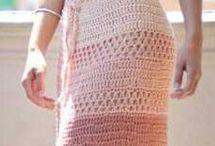 Saias e vestidos de crochê