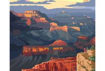 US National Parks Posters