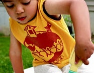 Boy sewing projects