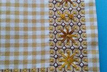 bordados tecidos xadrez