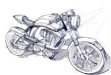 Motosiklet Çizim - Motorcyle Drawing