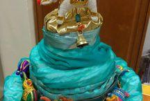 Indian Elephants Diaper Cake