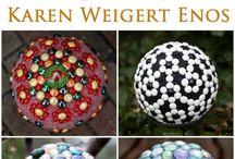 garden art ball