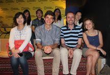 Alumnos de Paraninfo en el National Geographic de Madrid / El grupo de estudiantes de español para extranjeros asistiendo al National Geographic, en Madrid.