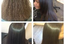 Anti-permanent and brazilian keratin / Straightened hair