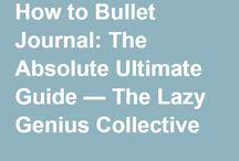 bullet journaling.