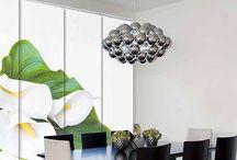 Cortinas / Cortinas enrollables, estores, paneles japoneses para la decoración del hogar.
