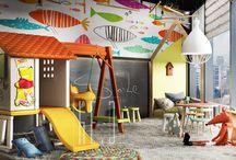Дом: игровая зона / Идеи, которые можно применить как в детскую комнату, так и в отдельно выделенную зону. Второй этаж у окна, либо коридор на первом этаже рядом со столовой