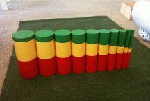 Montessori pomůcky smyslová výchova