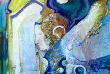 Barbora Brodzianska / nástenka obsahuje výber mojich diel za posledné obdobie. obrazy sú maľované akrylom na plátno..