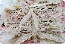 Book for lace and trims / Inspiration board on how to store your gorgeous laces.
