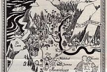 Literary Maps / From the Hundred Acre Wood to Panem.  From Middle Earth to Treasure Island.