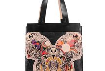 Universal Bag - Butterfly Effect / Women Leather Handbags, Limited Edition Designer Leather Bag COLOURS OF MY LIFE - Limited Edition wearable art signed by Anca Stefanescu.