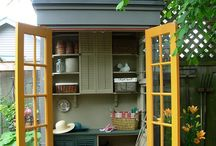 garden sheds / by Kerry Johnston