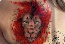 Oroszlános tetoválás