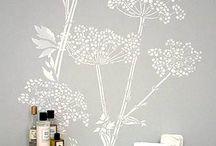 Bathroom stencils