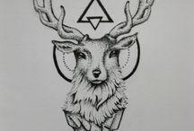 Оленьи татуировки