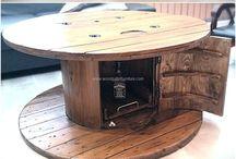 Wooden drum grill