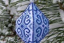 Christmas Cross Stich Ornaments