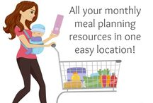 Monthly Meal Planning / Find all the resources you need to plan an entire month'e meals for your family that includes breakfast, lunch, snacks, dinner, desserts, and more including free planning printables, lesson plans, shopping lists, and more!