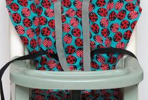 ladybug highchair cover