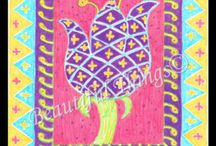 """Original Art Prints / Beautiful Things to Make You Smile high quality prints for sale from original art by Beverly Wulforst.  Subjects include flowers, roosters, butterflies, cats, rabbits, trees, topiaries, chairs, """"Marlboro"""" man, southern history, black history, women, men  - some with inspirational quotes! / by Beautiful Things"""