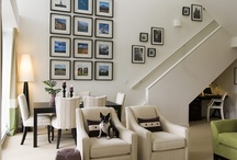 Gallery Walls / Collections of framed art hung together in interesting ways. A great source of inspiration!
