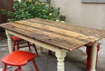 Painted Reclaimed Wood Table