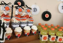 Nothing But Net Baby shower / Orange and Blue / by Shuntell Tharpe