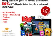 Incisivesoft Games Development / With staunch experience in Games apps development, our team of experts employing core knowledge of Game development software, we serve superior gamer experience developing specialized games for following platforms;  iOS (iPhone/iPad) Android (Phone/Tablet) Facebook HTML5 Flash