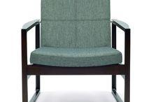 Lounge chair SAYANI / W690 D700 H740 SH400 AH550 フレーム:ビーチ材、ポリウレタン塗装仕上(5色)