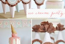 Party | Ice Cream Party Ideas / by Jessica |OhSoPrintable|