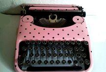 Pink Typewriters & Sewing Machines