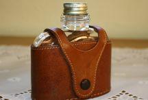 Vintage hip flasks