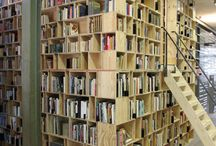 The Places Our Books Live / Beautiful, interesting, and fun places to read or store books