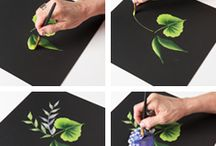 folk art brush strokes