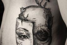 Black &white tattoo