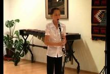 clarinet solo / My daughter plays the clarinet