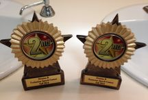 Two 2nd Place Trophies at Division Fall Contests 2014 / Humorous Speech & Evaluation (speech) Contests - Division B, District 45 Toastmasters, October 4, 2014, Rockport Opera House, Rockport Maine