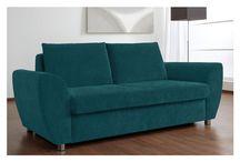 Modern Fabric Blue Sofa Bed