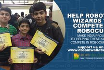 Help Robotics Wizards to Compete in Robocup, / Three children aged 10-13 stood first among 40 teams and will represent India in prestigious Robocup-2016 in Leipzig-Germany. Robocup is the most prominent & largest competition in the field of Science & Robotics with participants from 60+ countries.