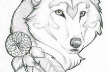 Wolf tekeningen