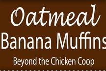 Muffins-  Banana & Oatmeal