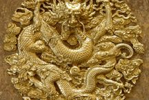 """Ancient Gold China . / 221 BC Qin Shi Huang united the various warring kingdoms and created for himself the title of """"emperor"""" (huangdi) of the Qin dynasty, marking the beginning of imperial China."""