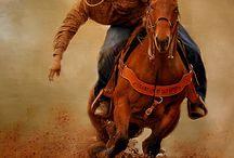 jeźdźcy Cowboy i Cowgirl