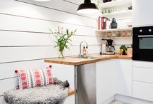 Kitchen Ideas / Mostly scandinavian/white kichen inspirations.