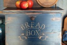 Bread boxes, pie safes,  veggie bins, noodle boards and covers