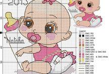 bebek kanaviçe şablonları