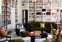 kirjasto ja tv-huone