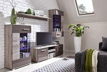 BRICO meble pokojowe - nowoczesny system / Meble systemowe BRICO to nowoczesne meble z oświetleniem LED oraz wstawkami wysoki połysk... poleca #MEBLINE  http://www.mebline.pl